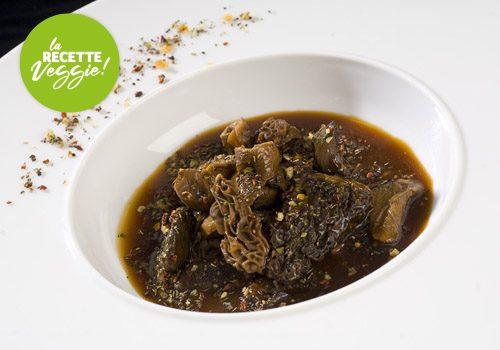 Recette : Mitonné de champignons confits et ses croûtons provençaux - EpiSaveurs