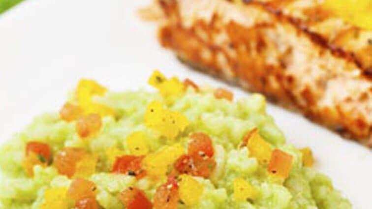 Recette : Saumon à la crème d'avocat tropical - TerreAzur