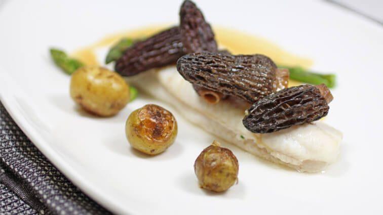 Recette : Filet de sole au naturel, quelques morilles fraîches et copeaux de foie gras - TerreAzur
