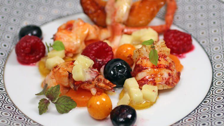 Recette : Minute de homard aux fruits frais - TerreAzur