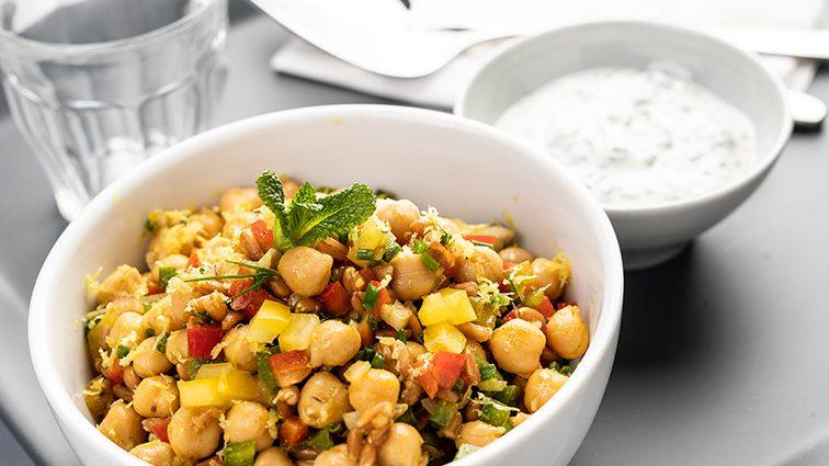 Recette : Bowls de pois chiches, petit épeautre et légumes - TerreAzur