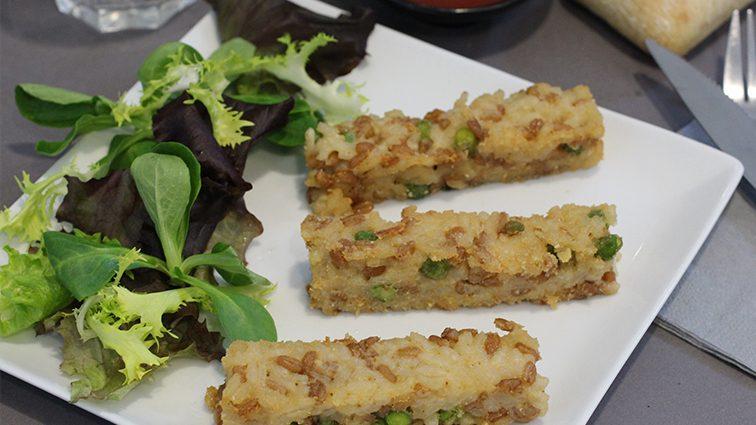 Recette : Fingers de risotto de petit épeautre et petit pois - TerreAzur