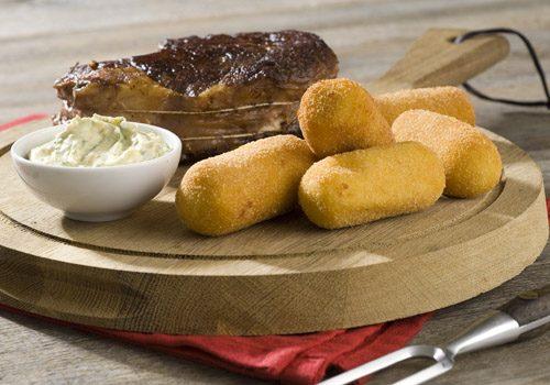 Recette : Entrecôte double sauce béarnaise, pommes croquettes - EpiSaveurs