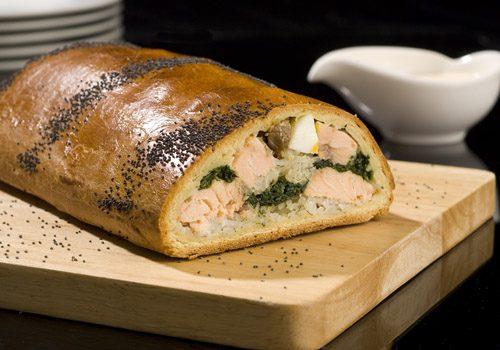 Recette : Coulibiac de saumon sauce beurre blanc - EpiSaveurs