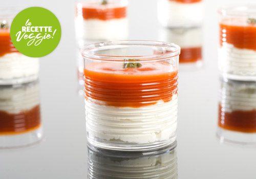 Recette : Verrines tomate et crème de mozzarella - EpiSaveurs