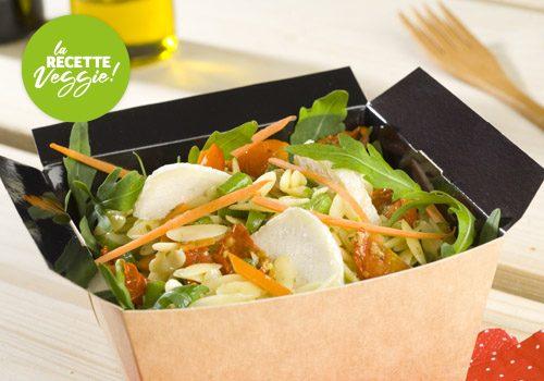 Recette : Salade de pépinettes au chèvre et petits légumes - EpiSaveurs