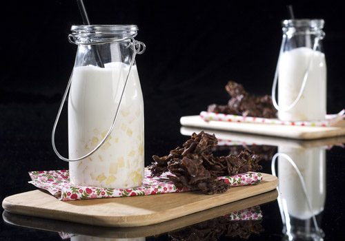 Recette : Milk-shake à la poire et sa rose des sables - EpiSaveurs