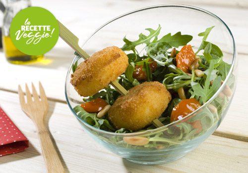 Recette : Croquettes de fromage en salade - EpiSaveurs