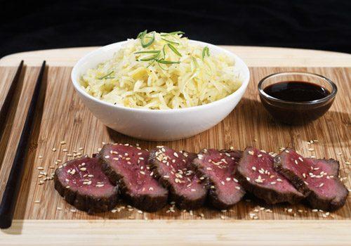 Recette : Tataki de bœuf et riz frit - EpiSaveurs