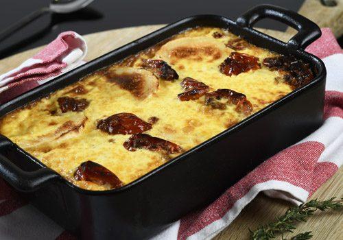Recette : Clafoutis de tomate et fromage de chèvre - EpiSaveurs