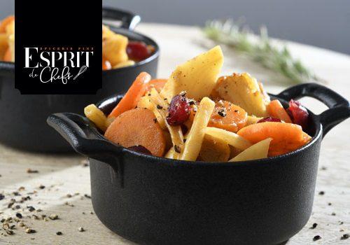 Recette : Poêlée de légumes et cranberries sauce à l'orange - EpiSaveurs