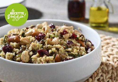 Recette : Salade de quinoa et boulgour aux cranberries - EpiSaveurs