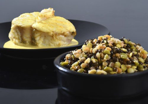 Recette : Curry de poisson, méli-mélo de lentilles - EpiSaveurs