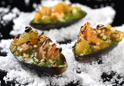 Recette : Moules gratinées et crumble de fruits sec - EpiSaveurs