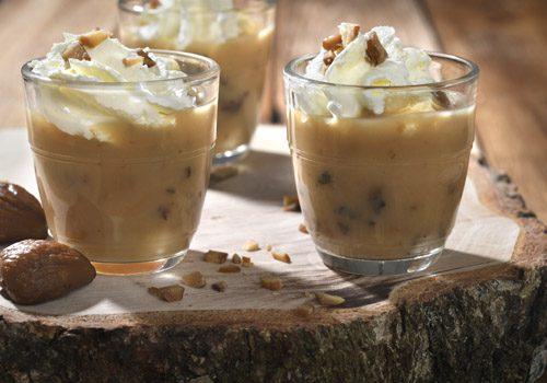 Recette : Cappuccino de bolet, mousse et copeaux de châtaigne - EpiSaveurs