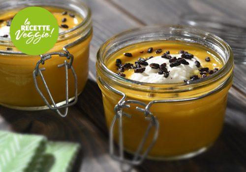 Recette : Crème de potiron, nuage de coco et riz vénéré soufflé - EpiSaveurs