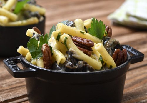Recette : Macaronis aux escargots et aux noix - EpiSaveurs