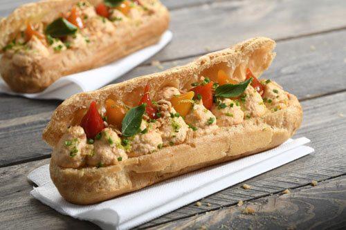 Recette : Eclair salé chair de saumon - EpiSaveurs