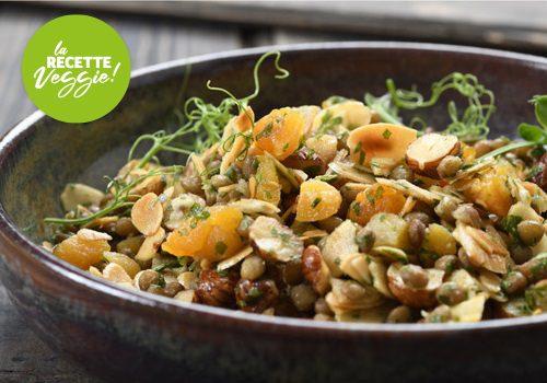 Recette : Salade d'amandes et de lentilles épicées - EpiSaveurs