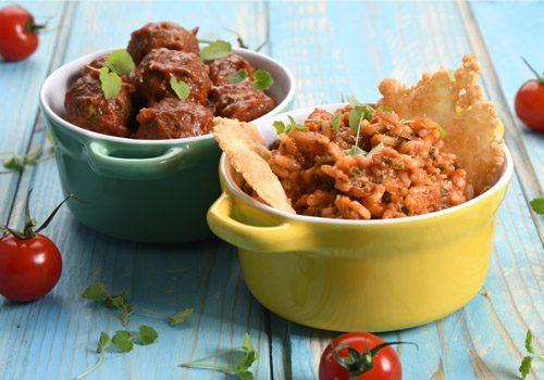 Recette : Boulette de viande et riz à la Bolognaise - EpiSaveurs