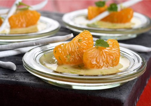 Recette : Salade de mandarine meringuée - EpiSaveurs