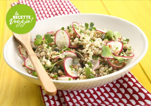 Recette : Salade Kasha radis et citron vert - EpiSaveurs