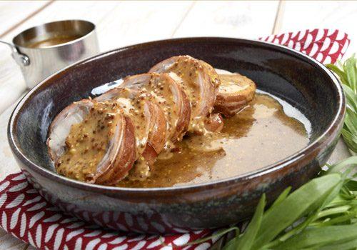 Recette : Rouelle de lapin sauce moutarde à l'ancienne - EpiSaveurs