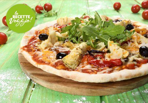 Recette : Pizza aux légumes confits, roquette et parmesan - EpiSaveurs
