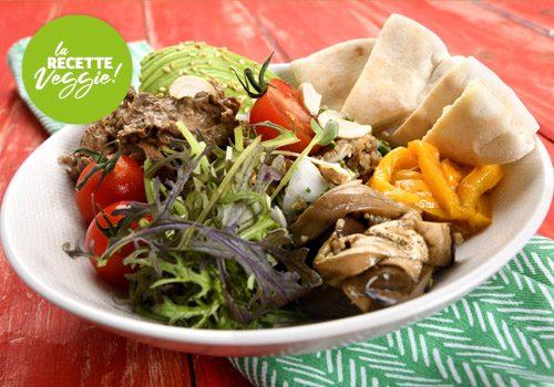 Recette : Bol de quinoa, caviar d'aubergines confites et légumes au miel - EpiSaveurs
