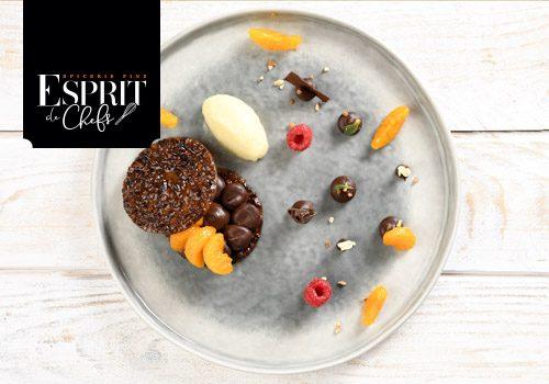 Recette : Palet tout chocolat et mandarine - EpiSaveurs