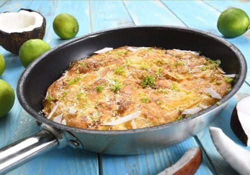 Recette : Gâteau de mangue noix de coco et citron vert - EpiSaveurs