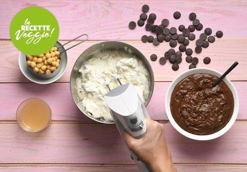 Recette : Mousse chocolat au jus de pois chiche et graines de lin - EpiSaveurs