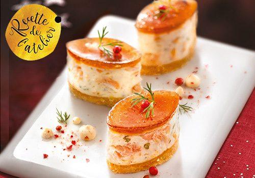 Recette : Mini cheesecake au saumon, chutney de figues en gelée - EpiSaveurs