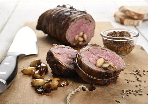 Recette : Filet d'agneau, petit râgout de fruits secs au poivre et balsamique - EpiSaveurs