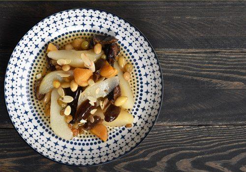 Recette : Salade de poire et fruits secs - EpiSaveurs
