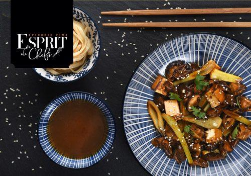 Recette : Petit bouillon de shiitakés et tofu mariné - EpiSaveurs