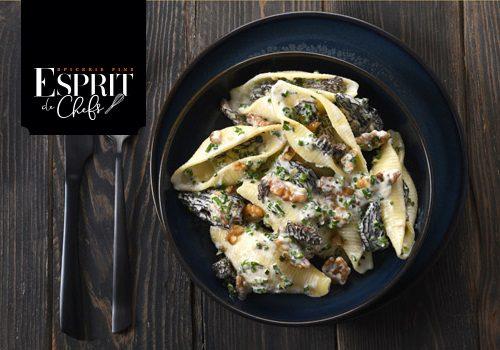 Recette : Conchiglioni, sauce aux Morilles et aux noix - EpiSaveurs