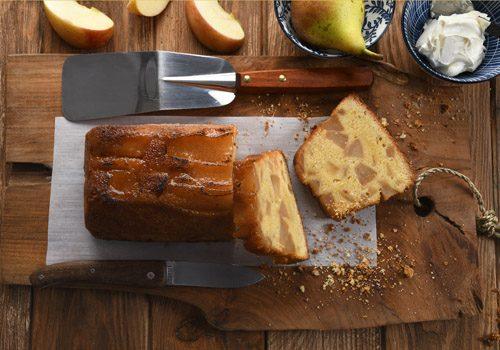 Recette : Cake de polenta pomme et poire - EpiSaveurs