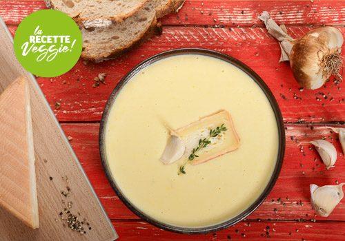 Recette : Crème d'ail fumé au Maroilles - EpiSaveurs