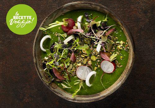 Recette : Soupe froide d'épinard et avocat (façon veggie bowl) - EpiSaveurs