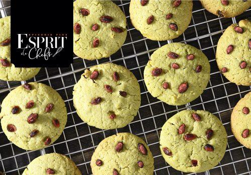 Recette : Cookies matcha et baies de Goji - EpiSaveurs