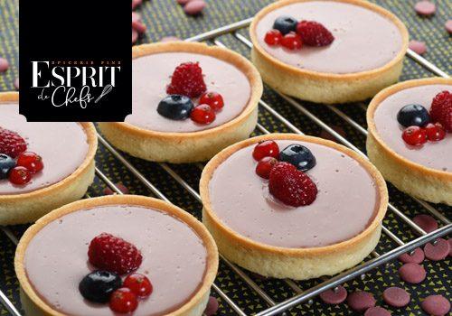 Recette : Tartelette chocolat ruby - EpiSaveurs