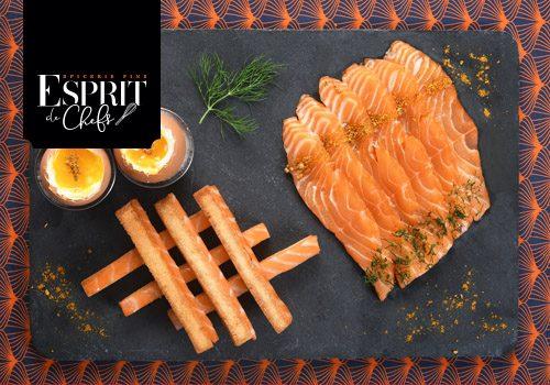 Recette : Œuf coque et mouillettes au saumon en gravlax - EpiSaveurs