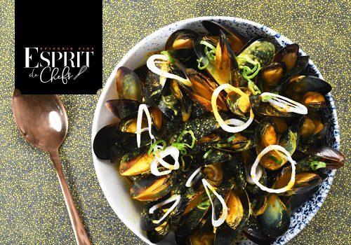 Recette : Cassolette de moules à la crème de curry breton - EpiSaveurs