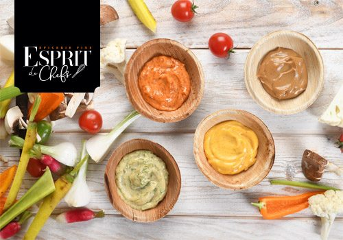 Recette : Ronde de mayonnaises aromatisées pour dipping coloré - EpiSaveurs