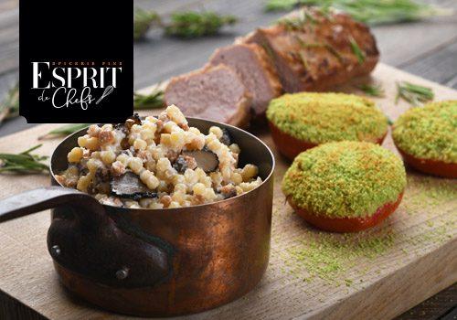 Recette : Agneau confit et risotto provençal de Fregola Sarda à la truffe - EpiSaveurs