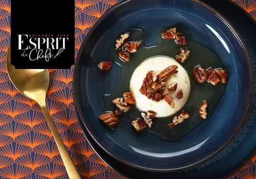 Recette : Blanc manger à la fève de Tonka et noix de pécan - EpiSaveurs
