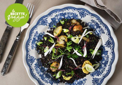 Recette : Salade de lentilles et pommes de terres soufflées - EpiSaveurs