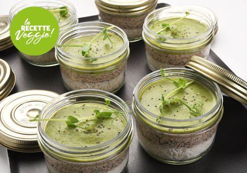 Recette : Royale de champignons et riz sauce pois cassés - EpiSaveurs