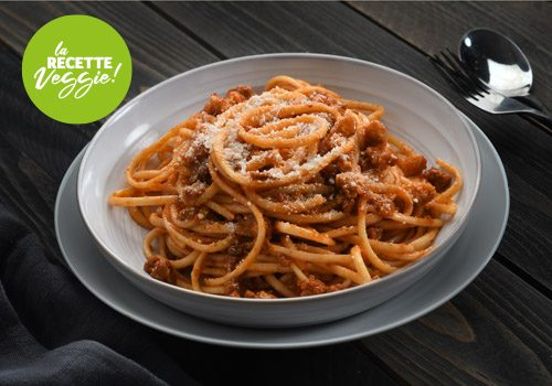 Recette : Spaghettis bolognaise veggie - EpiSaveurs